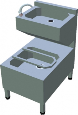Ванна мийна з умивальником T-AVK-2