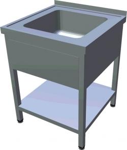Ванна мийна штампована з полицею T-ADL-1P